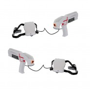 LASER X, Indoor and Outdoor Double Blasters with 2 Laser Blaster 2 Receivers Lights and Sounds Giochi Preziosi