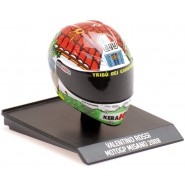 Model HELMET VALENTINO ROSSI Moto GP MISANO 2008 Tribu Chihuahua Mini SCALE 1/10 Collection VR 46 Minichamps