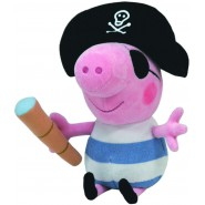 BIG Plush 25cm GEORGE PIRATE With TELESCOPE Peppa Pig ORIGINAL TY