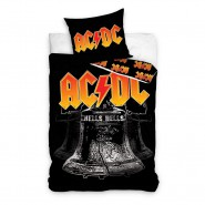 AC/ DC Hells Bells Single Bed Set Rock Band Original DUVET COVER 140x200cm Cotton OFFICIAL Music
