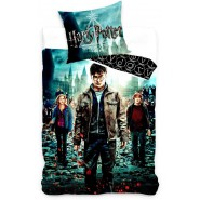 DEATHLY HALLOWS  Bed Set HARRY POTTER Harry Hermione Ron DUVET COVER 160x200cm and Pillow Case Cotton ORIGINAL Official