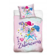 SHIMMER AND SHINE Single Bed Set I LOVE ZAHRACORNS Original DUVET COVER 140x200cm Cotton OFFICIAL Unicorn