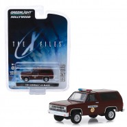 Model 1981 CHEVROLET K-5 BLAZER Of Sheriff From X-Files Molder Scully 8cm Scale 1/64 DieCast Greenlight