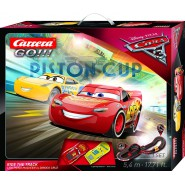 Electric SLOT CAR Racing CARS 3 Piston Cup RIDE THE TRACK 5,4 Meters McQUEEN vs CRUZ Original CARRERA GO