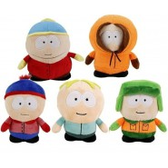 SOUTH PARK Set 7 Plush 14cm Kenny Kyle Eric Stan Leopold ORIGINAL Comedy Central