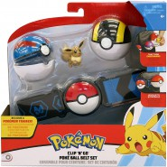 POKEMON Clip 'n' Go Official BELT With 1 Figure EEVEE and 2 PokeBall ORIGINAL Official