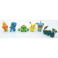 SET 6 Figures POKEMON ADVANCED Tomy ORIGINAL Pikachu Torchic Seviper Wynaut  ALSO Cake Topper