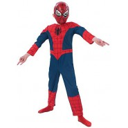 Carnival COSTUME of SPIDER-MAN Spiderman DELUXE Premium MUSCLED Version Size MEDIUM 5-6 YEARS Original RUBIE'S Rubies
