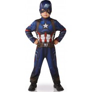 Carnival COSTUME of CAPTAIN AMERICA from CIVIL WAR Size SMALL 3-4 YEARS Original RUBIE'S Rubies