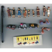 THE FLINSTONES Rare SET 14 Mini Figures Vehicles Collection Surprise Sorprese RICHARD