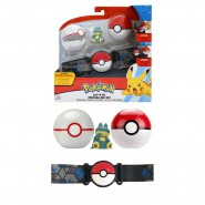 POKEMON Clip 'n' Go Official BELT With 1 Figure PIKACHU and 2 PokeBall Wave 4 ORIGINAL Official