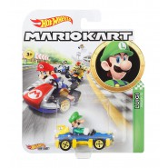 Die Cast Model LUIGI Mach 8 KART From SUPER MARIO Scale 1:64 5cm Hot Wheels