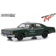 1976 PLYMOUTH FURY Model Car Taxi Checker 12cm DieCast 1/43 From the Movie Beverly Hills Cop ORIGINAL Greenlight