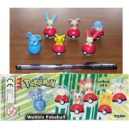 SET 6 Figures POKEMON POKEBALL Original TOMY Rare