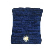 NECK WARMER Beanie MELANGE with FLEECE inside Original INTER Internazionale Official