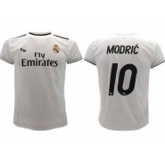 Luka MODRIC Number 10 REAL MADRID Home WHITE Jersey 2018/2019 T-SHIRT Replica OFFICIAL Authentic
