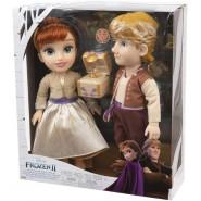 Box 2 Figures Dolls ANNA and KRISTOFF Proposal RING 35cm from FROZEN 2 MOVIE Official DISNEY Jakks Giochi Preziosi