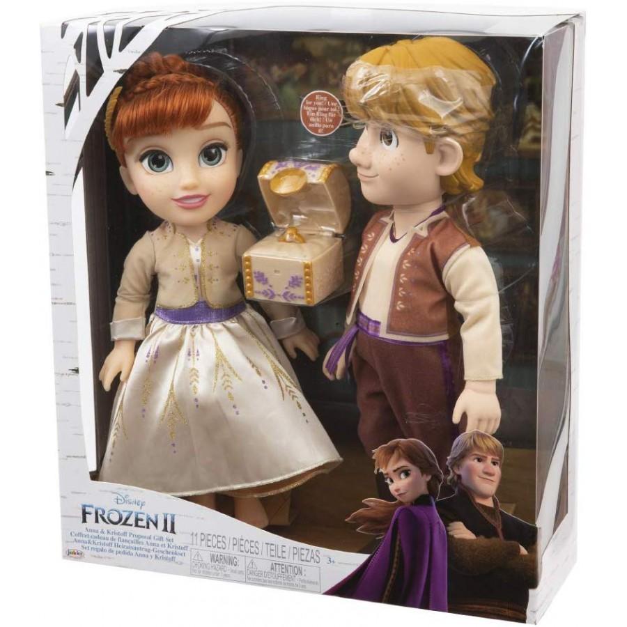 FROZEN 2 Box 3 FIGURE 6cm Whisper Glow ANNA ELSA OLAF Disney Giochi Preziosi