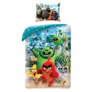 Bed Set ANGRY BIRDS Model ESCAPE Red PIG WITH BEARD Explore DUVET COVER 140x200 Cotton ORIGINAL