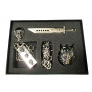 FINAL FANTASY VII Advent Children BOX PARURE Gioielli COLLANA ANELLO BRACCIALE
