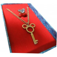 KINGDOM HEARTS Necklace with PENDANT SHAPED AS MICKEY MOUSE and RING