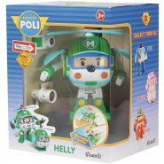 HELLY Helicopter Robot Tranformer WITH LIGHTS from ROBOCAR POLI 12cm Original
