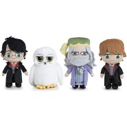 COMPLETE SET 4 PLUSHIES 20cm HARRY POTTER Harry Ron Albus Dumbledore Hedwig ORIGINAL WARNER BROS