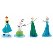 FROZEN FEVER Lot 4 Mini FIGURES 5cm for Collectors ORIGINAL Cake Topper Decoration DISNEY