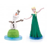 FROZEN FEVER Pair 2 Mini FIGURES 5cm for Collectors Elsa + Olaf ORIGINAL Cake Topper Decoration DISNEY