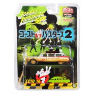 GHOSTBUSTERS Model Car 8cm ECTO 1A DIRTY VERSION Scale 1/64 LIMITED Original  Johnny Lightnining
