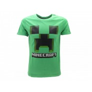 MINECRAFT T-Shirt Jersey GREEN With Creeper's Face Cactus OFFICIAL Original Videogame