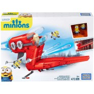 MINION Playset Mattoncini SUPERVILLAIN JET Construction Set 472 pieces Original MEGA BLOCKS