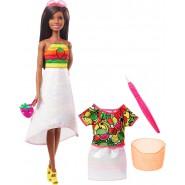 BARBIE Crayola With Brush and Accessories Rainbow Fruit Doll Original Mattel GBK19