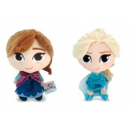 FROZEN Couple 2 PLUSHIES 18cm ELSA and ANNA Stylized OFFICIAL Original