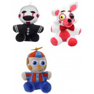 COMPLETE SET 3 Plushies FIVE NIGHTS AT FREDDY's Balloon Boy Mangle Phantom 28cm ORIGINAL Official FNAF