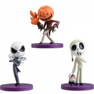 JACK SKELLINGTON COMPLETE SET 3 Figures 8cm Ball CHIBIKKO Nightmare Before Christmas Original SEGA DISNEY