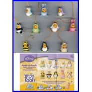 TOMY SET 8 Figures WINNIE POOH Special RETURNS PART 1 Mini Winnies Peek a Pooh