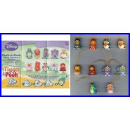 TOMY SET 8 Figures WINNIE POOH Special RETURNS PART 2 Mini Winnies Peek a Pooh
