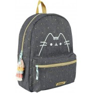 BACKPACK Jeans PUSHEEN Cat Purrfect 33x23cm Golden Details Original Official Vadobag