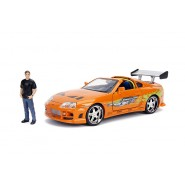 TOYOTA SUPRA Model DieCast with Figure BRIAN Scale 1/24 ORIGINAL Jada Fast And Furious