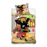 BED SET 140x200cm BING and SULA With Toy Car Pillow Case 70x90cm 100% Cotton Original