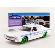 RARE CHASE VERSION Green Wheels Blues Brothers CHICAGO POLICE CAR 1975 Dodge Monaco Scale 1/24 Greenlight
