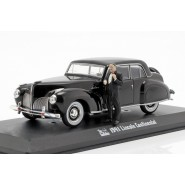 DieCast Model GODFATHER CAR 1941 LINCOLN CONTINENTAL 1/43 12cm and Figure Don Vito CORLEONE 4cm Original GREENLIGHT
