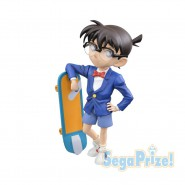 Detective CONAN EDOGAWA Figure Statue 17cm With Skateboard Original SEGA Premium Figure Japan