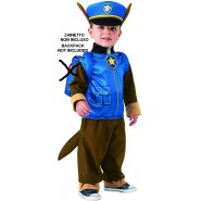 NO BACKPACK - Carnival COSTUME of CHASE From PAW PATROL Size  TODDLER BABY 1-2 YEARS Original RUBIE'S Rubies
