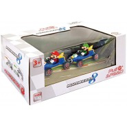 BOX Pack 2 Models 7cm MARIO KART Mario Luigi PULL BACK Version MACH 8 VINTAGE Carrera