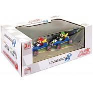 BOX Pack 2 Models 7cm MARIO KART Mario Luigi PULL BACK Version MACH 8 VINTAGE Carrera