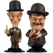 Box 2 Figures STAN LAUREL and OLIVER HARDY Mini Bobble Head 8cm ORIGINAL Big Chief