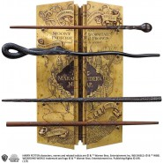 HARRY POTTER Gift Set WALL DISPLAY 4 WANDS Marauder Original Noble Collection