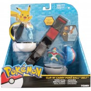 POKEMON Clip 'n' Go Official BELT With 2 Figures and Poke Ball HAWLUCHA and AMAURA Original TOMY